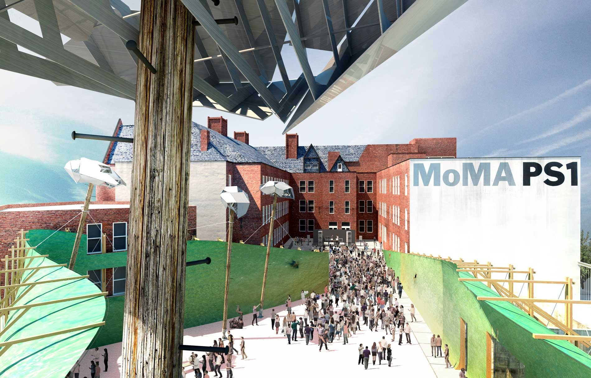 MoMA PS1 YAP 2015 Runner-up: Drones' Beach / Brillhart Architecture, Courtesy of Brillhart Architecture