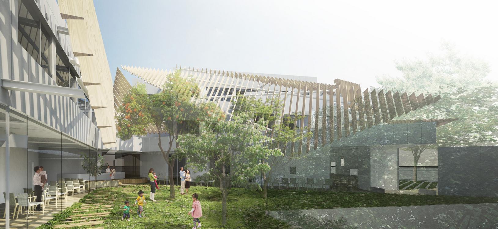 """Kengo Kuma divulga proposta para um """"hospital verde"""" em Tóquio, © Kengo Kuma & Associates"""
