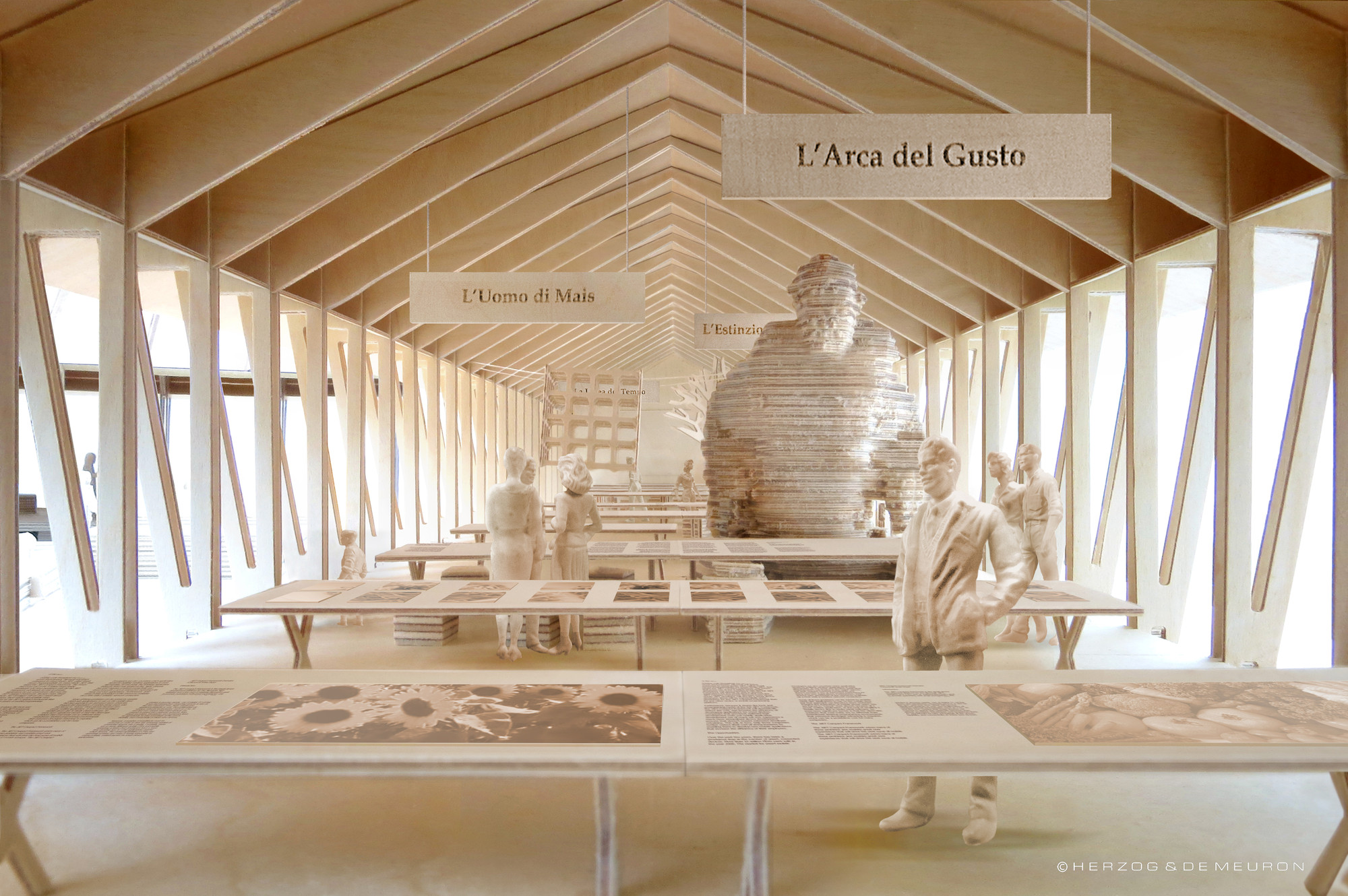 Milan Expo 2015: Herzog & de Meuron Designs Slow Food Pavilion for Carlo Petrini, Courtesy of Herzog & de Meuron