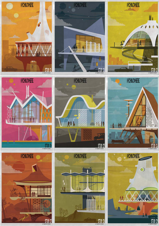 ARCHINOWHERE: A Parallel Archi-Universe Illustrated by Federico Babina, Courtesy of Federico Babina