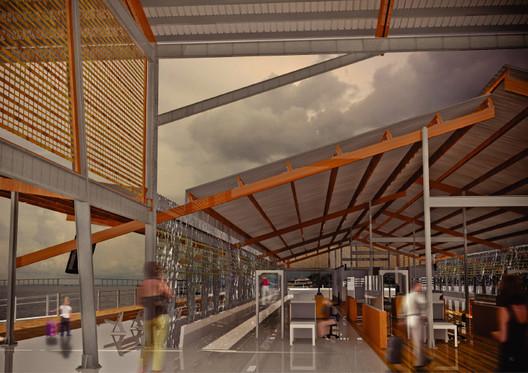 Novo Porto Flutuante. Imagem Cortesia de Nahuel Recabarren
