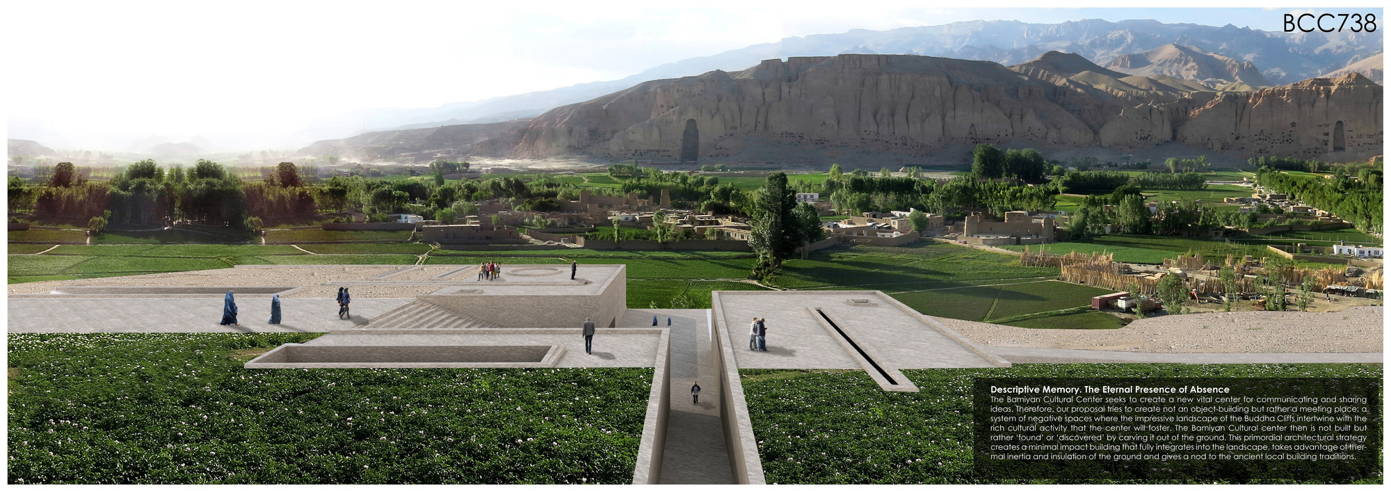 Arquitetos argentinos vencem concurso da UNESCO para o novo Centro Cultural de Bamiyan, Proposta vencedora. Proposta vencedora