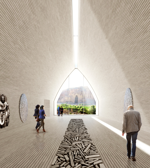 UNESCO Reveals Winning Scheme For The Bamiyan Cultural Centre In Afghanistan, Winning Entry: Exhibition Space. Image Courtesy of UNESCO