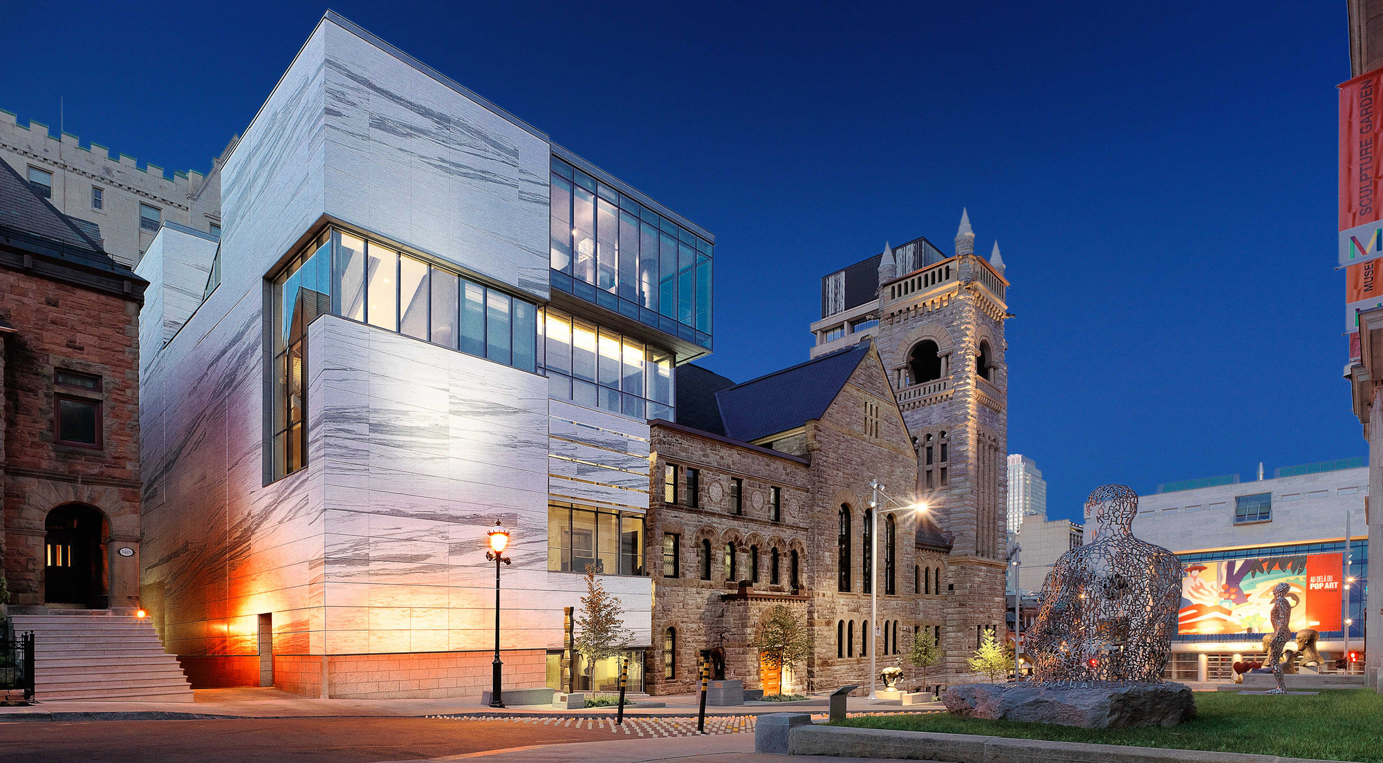 Provencher_Roy Wins RAIC's 2015 Architectural Firm Award, Claire and Marc Bourgie Pavillon of Quebec and Canadian Art at the Montreal Museum of Fine Arts - 2011; Montreal, Canada. ImageMarc Cramer