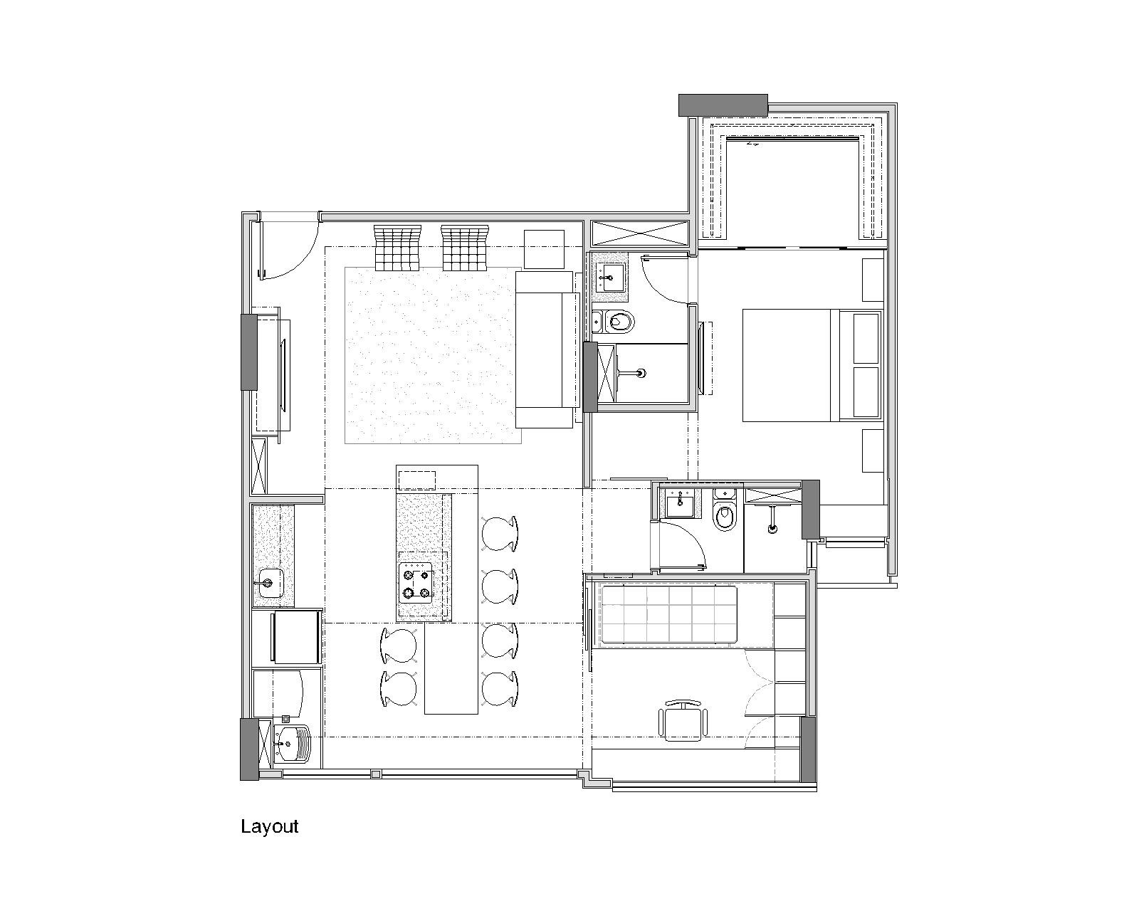 Trama apartment semerene arquitetura interior archdaily for Floor plan holder