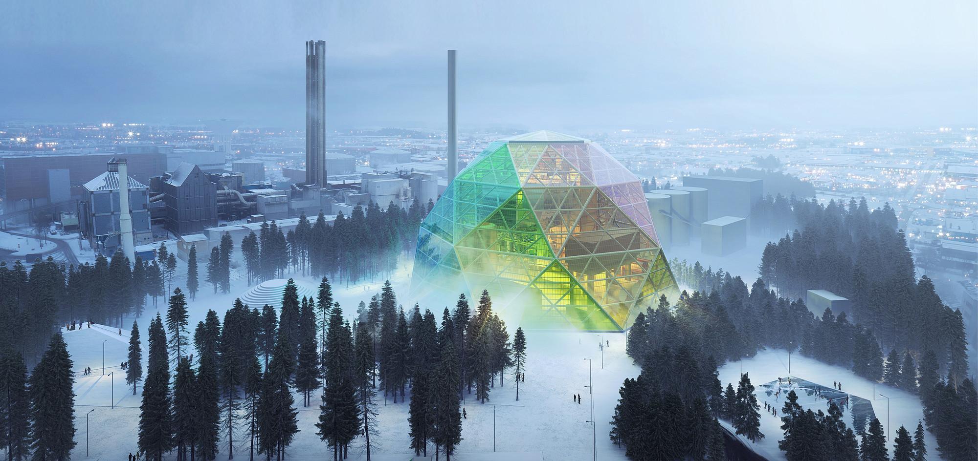 BIG nos sorprende con su diseño 'poco convencional' para la planta energética de Uppsala  , © BIG