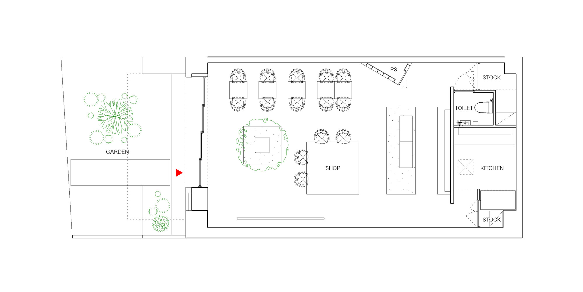 Gallery of ito biyori cafe ninkipen 8 for Coffee shop floor plan with dimensions