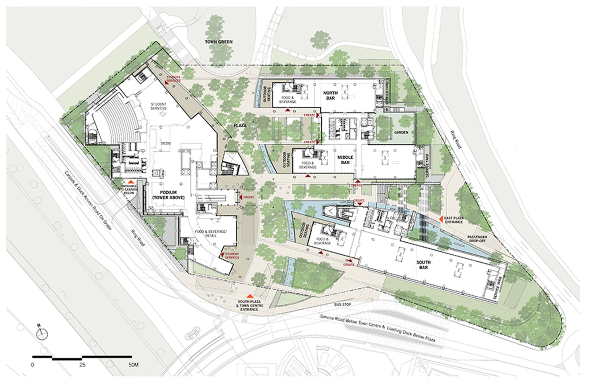 Create campus for research excellence and technological for Planner site