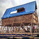 The Makoko Floating School in Lagos, Nigeria. Image © NLÉ Architects
