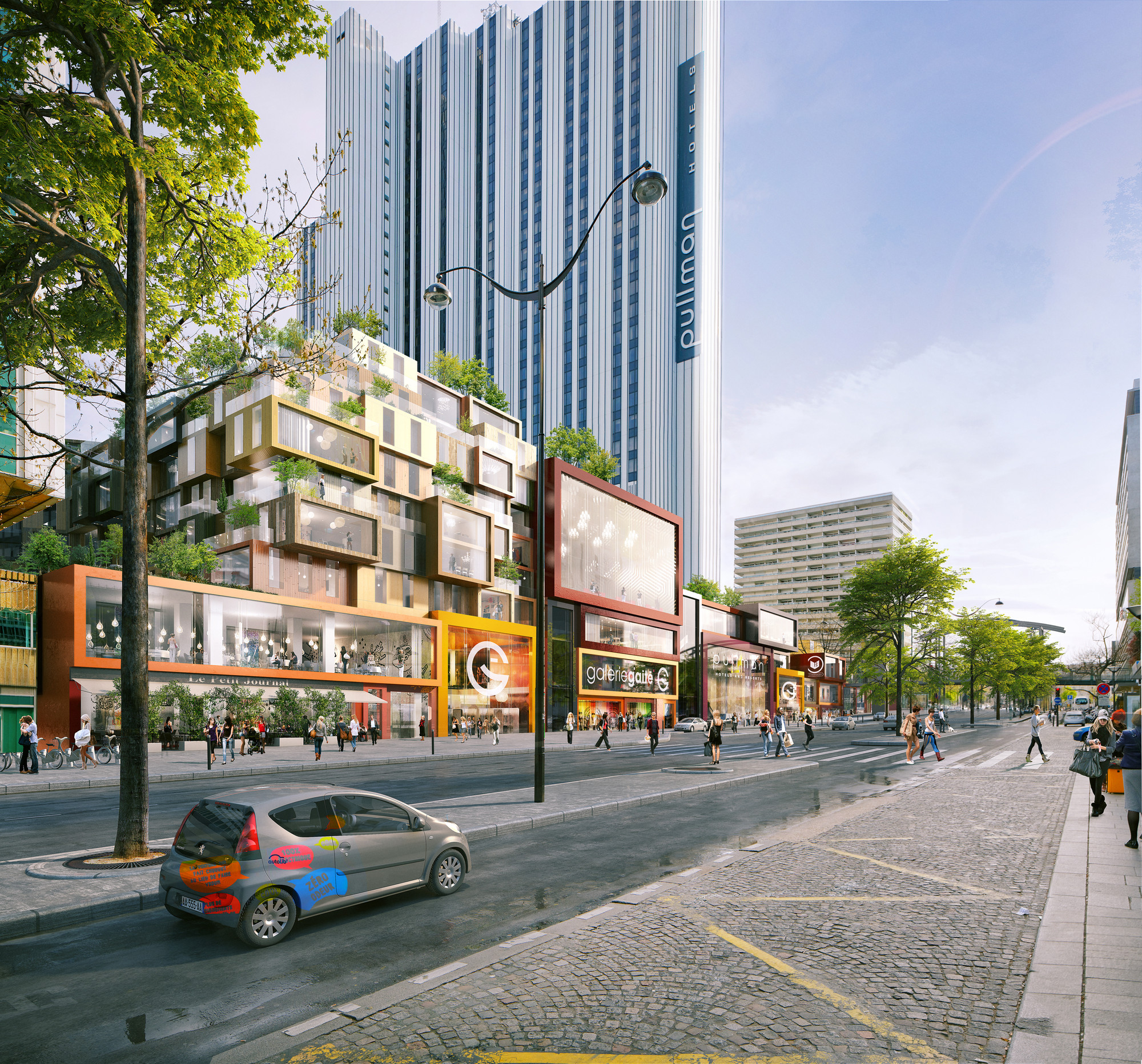 City of Paris Approves MVRDV's Restructuring of Montparnasse Superblock, © l'autre image