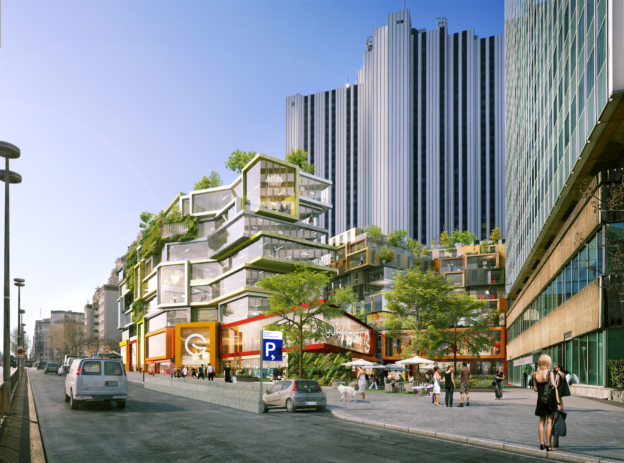 gallery of city of paris approves mvrdv 39 s restructuring of montparnasse superblock 2. Black Bedroom Furniture Sets. Home Design Ideas