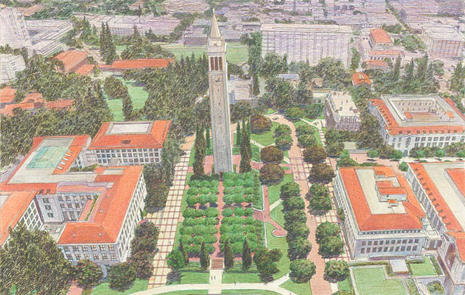 Two Architects Selected to Receive the 2015 AIA Thomas Jefferson Award, New Century Plan. Image © UC Berkeley