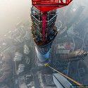 View of the Jin Mao Tower from the Shanghai Tower.. Image © Vitaliy Raskalov, ontheroofscom@gmail.com