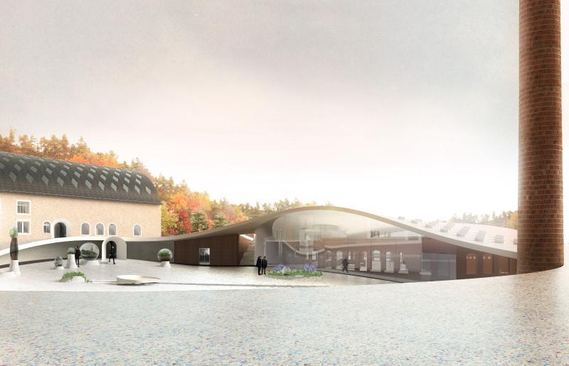 SO–IL e FREAKS vencem concurso para modernizar a fábrica de vidros Site Verrier na França, Centro de visitantes. Cortesia de SO-IL