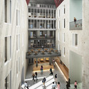 Internal courtyard. Image Courtesy of O'Donnell + Tuomey / Central European University