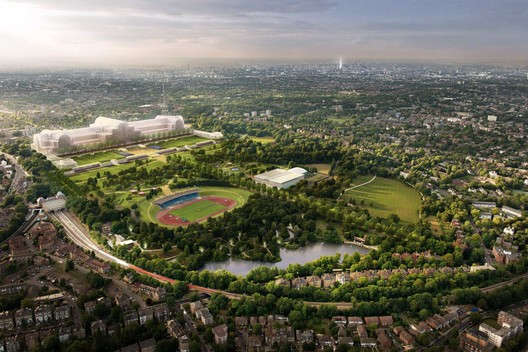 Crystal Palace rebuild site. Image Courtesy of Bromley Council