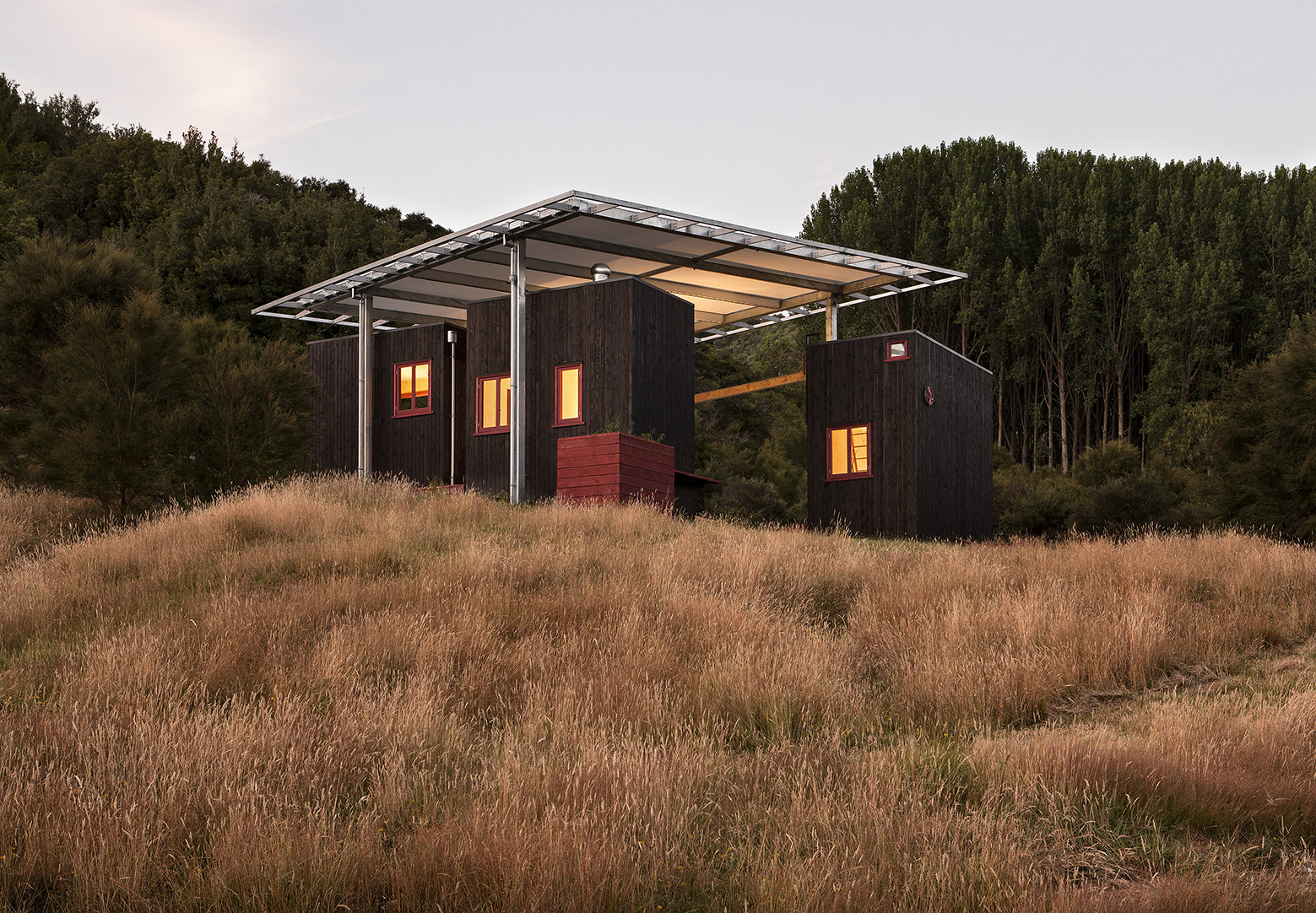 Longbush Ecosanctuary Welcome Shelter / Sarosh Mulla Design, © Simon Devitt