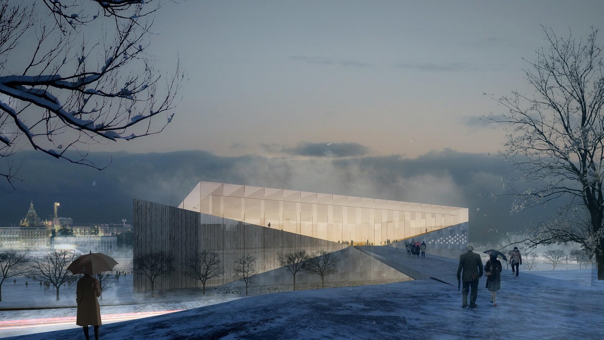 Proposta para o Museu Guggenheim Helsinki / Indio da Costa , Cortesia de Indio da Costa