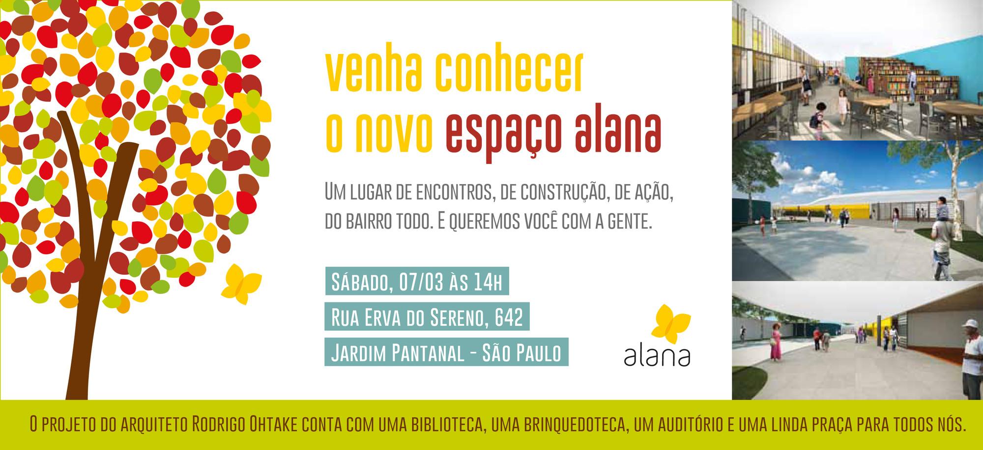 Inauguração do Espaço Alana do Jardim Pantanal, projeto de Rodrigo Ohtake, Cortesia de Rodrigo Ohtake