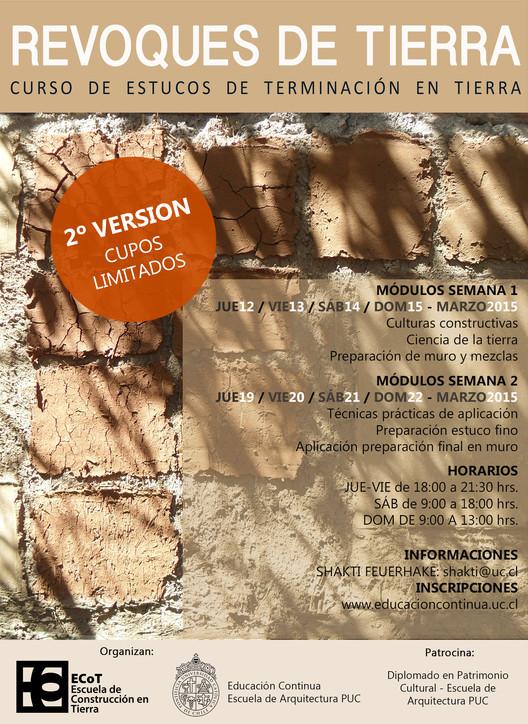 Curso de Estucos y Terminaciones en Tierra Cruda, Segunda Versión / Educación Continua UC