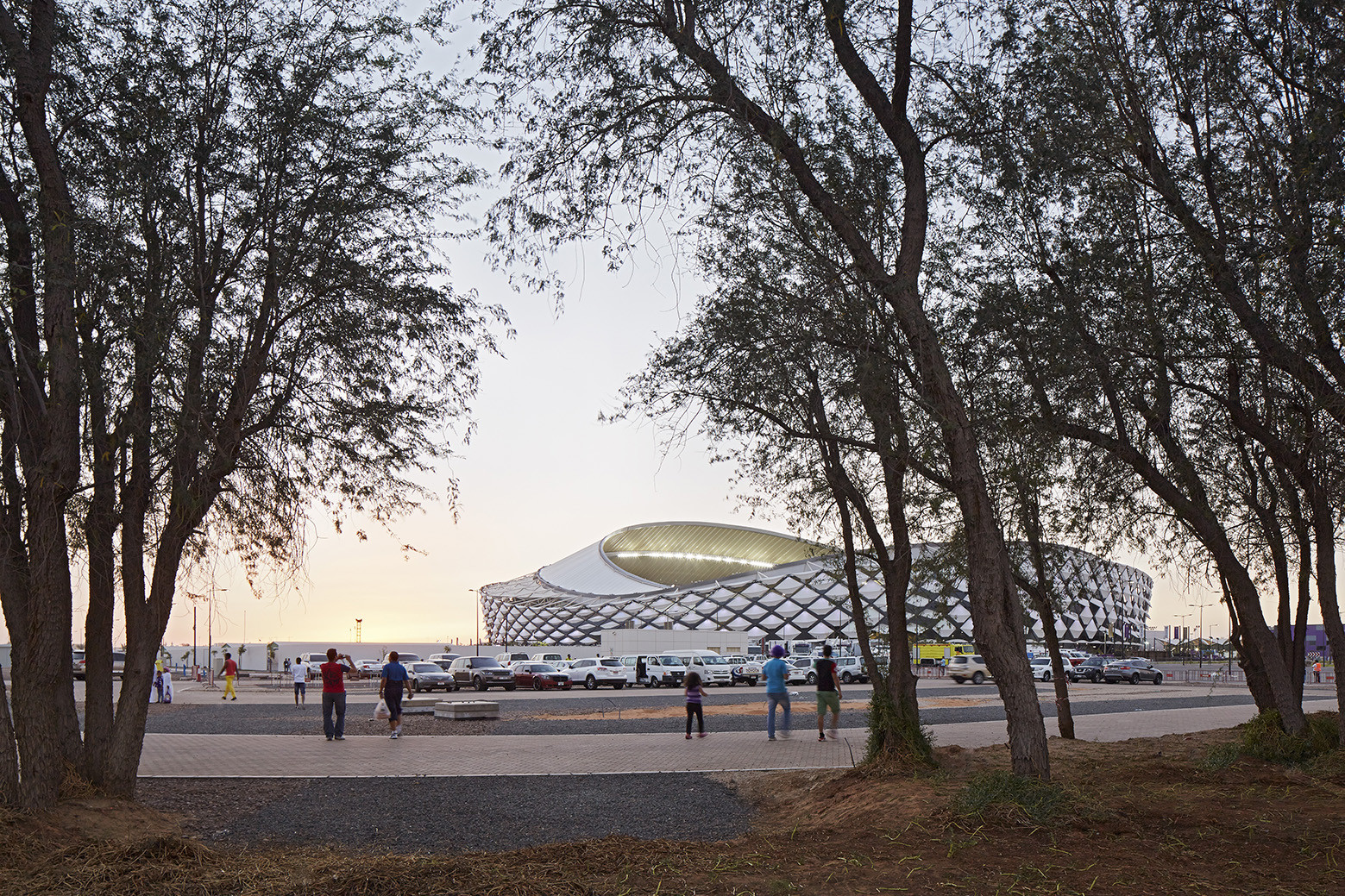 Hazza Bin Zayed Stadium / Pattern Design, © Dennis Gilbert