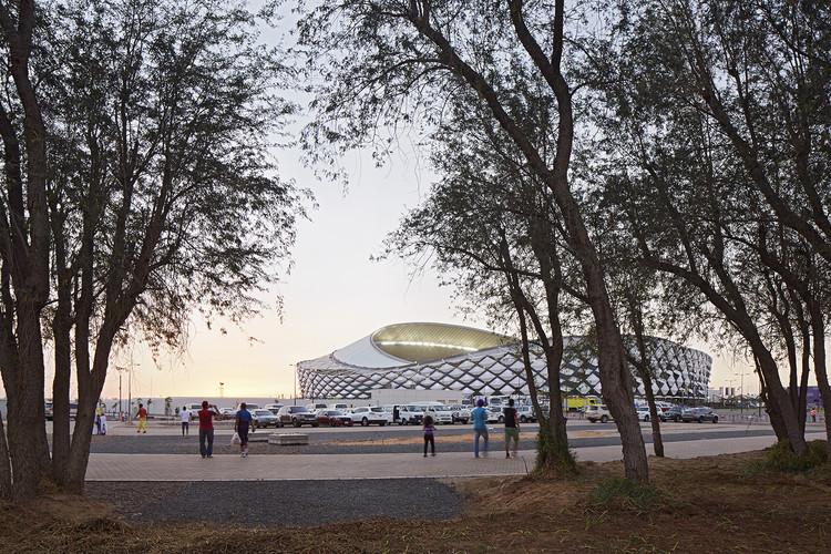 Hazza Bin Zayed Stadium / Pattern Design, © Dennis Gilbert