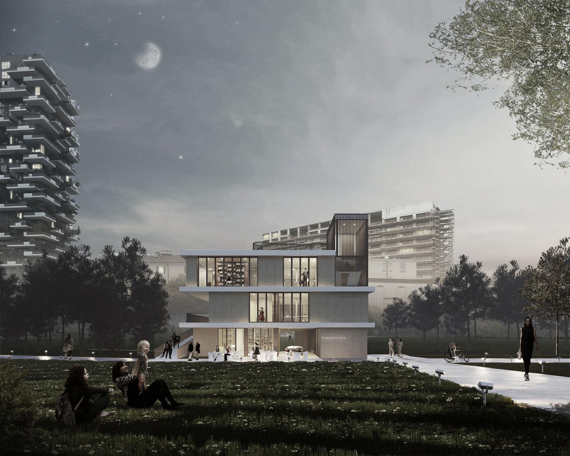 KM 429 Chosen to Design Isola Garibaldi Civic Center in Milan, Courtesy of KM 429 architecture