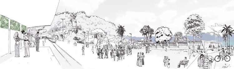A Escola de Itanhaém e as vocações latentes das cidades, Parque Linear. © Felipe Zorlini