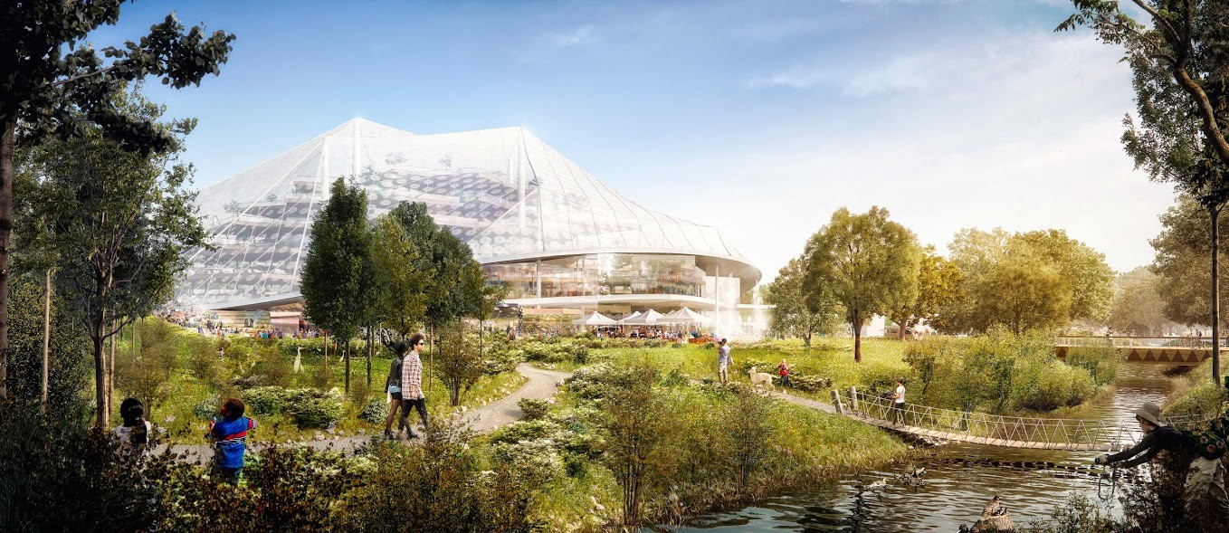 See big heatherwick 39 s design for google 39 s california for Innovative pool design kings mountain