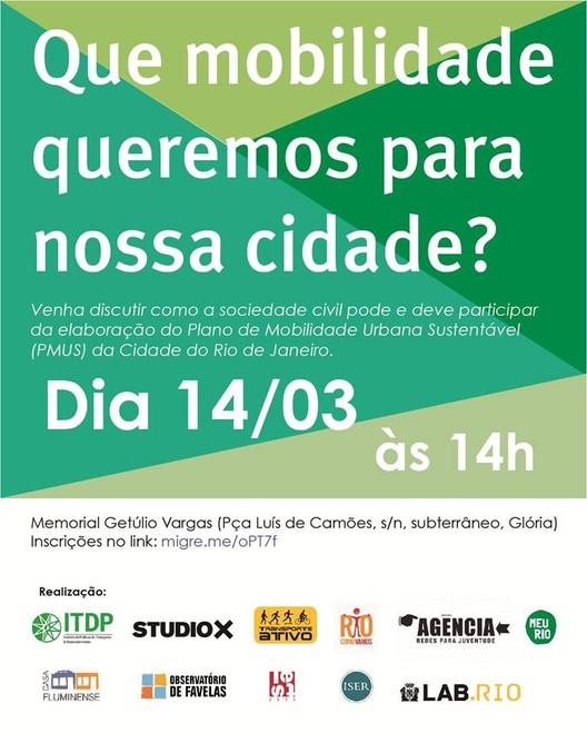 """Encontro """"Que mobilidade queremos para nossa cidade?"""", no Rio de Janeiro"""