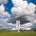 Lúcio Costa and Oscar Niemeyer. Plaza of the three powers, Brasilia, Brazil, 1958-1960. Photograph: Leonardo Finotti © Leonardo Finotti