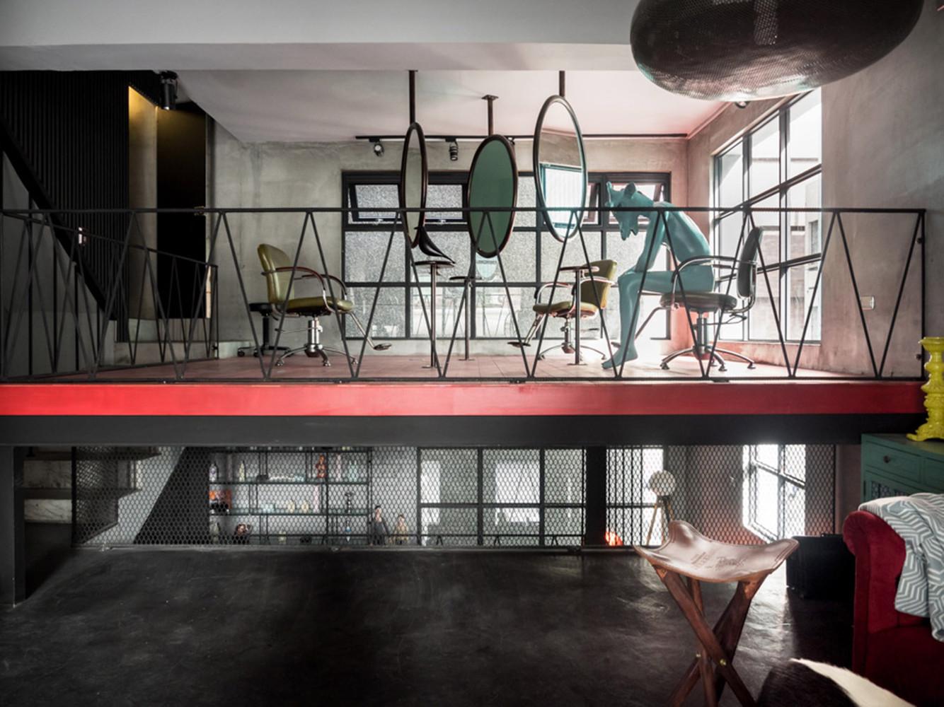 renovation of split level hair salon residential hey cheese - Split Level Interior Design