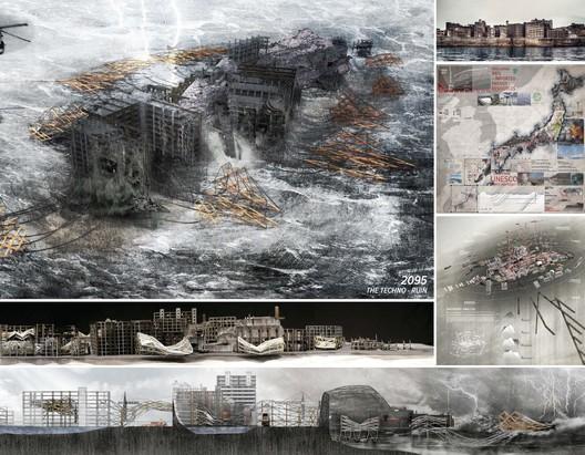 Grande Prêmio: 'Amphibious Architecture: Projective Obsolescence of the Techno-Ruin' / Wong Yok Fai Arnold. Cortesia de d3