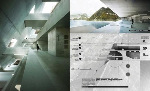 Menção Especial: 'Opération Béton: Nature Interpretatation Center of the Alps' / Le Quang; Hoang Phuong. Cortesia de d3