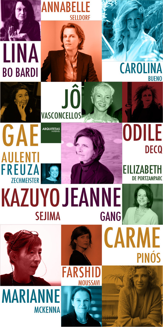 Arquitetas Invisíveis apresentam 48 mulheres na arquitetura: Arquitetura, Cortesia de Arquitetas Invisíveis
