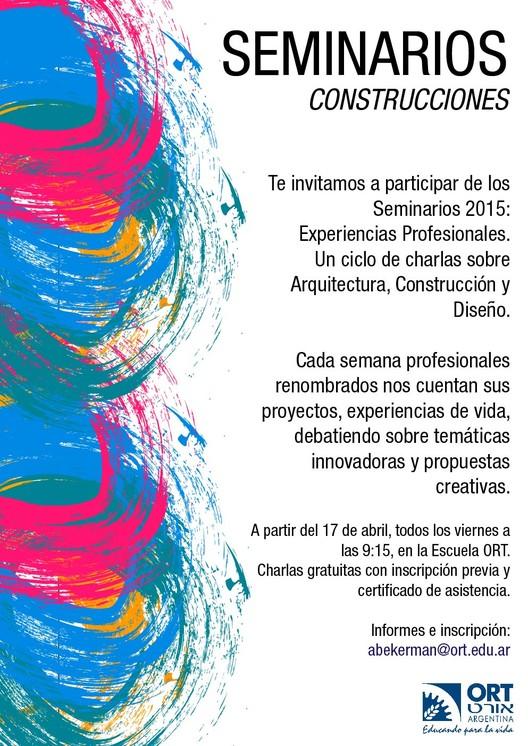 Seminarios Escuela ORT Argentina: construcciones y experiencias profesionales / Buenos Aires