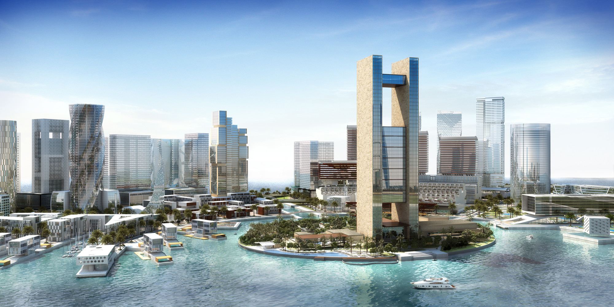 SOM's Expansive Four Seasons Hotel Opens in Bahrain Bay, © SOM