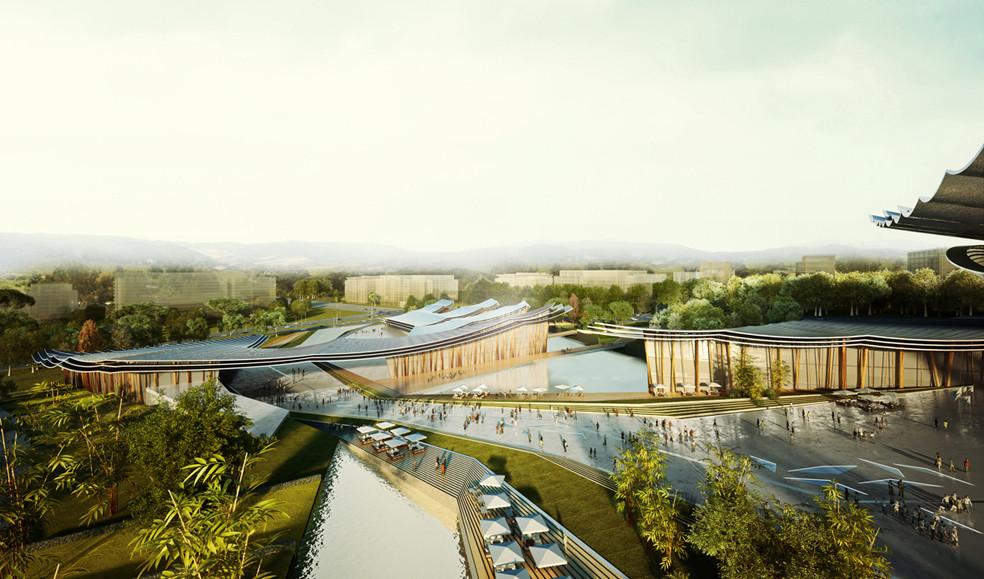 Rafael de La-Hoz y ADRI-HIT se adjudican primer lugar en diseño de centro cultural en China, Cortesía de Rafael de La-Hoz Arquitectos