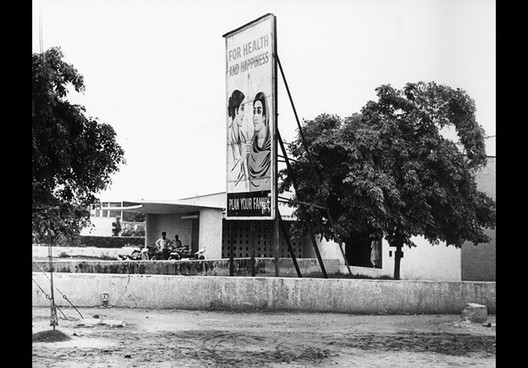Centro de Saúde em Chandigarh. Imagem via RIBA Library and Photographs Collection