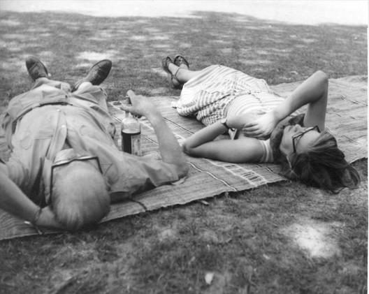 Le Corbusier e Jane Drew em Chandigarh. © FLC-ADAGP