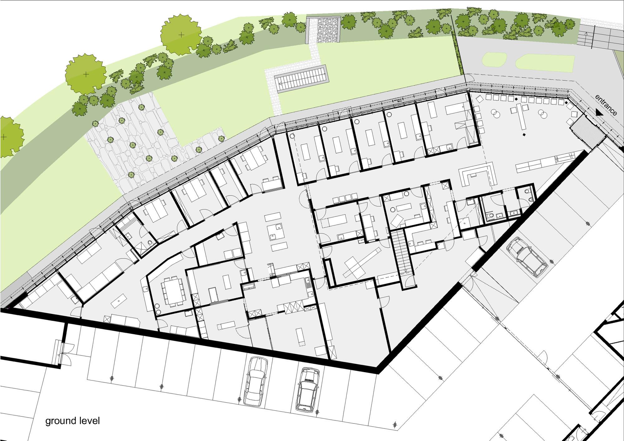 5500f122e58ece8129000135 Ground Floor Plan on Veterinary Clinic Floor Plans