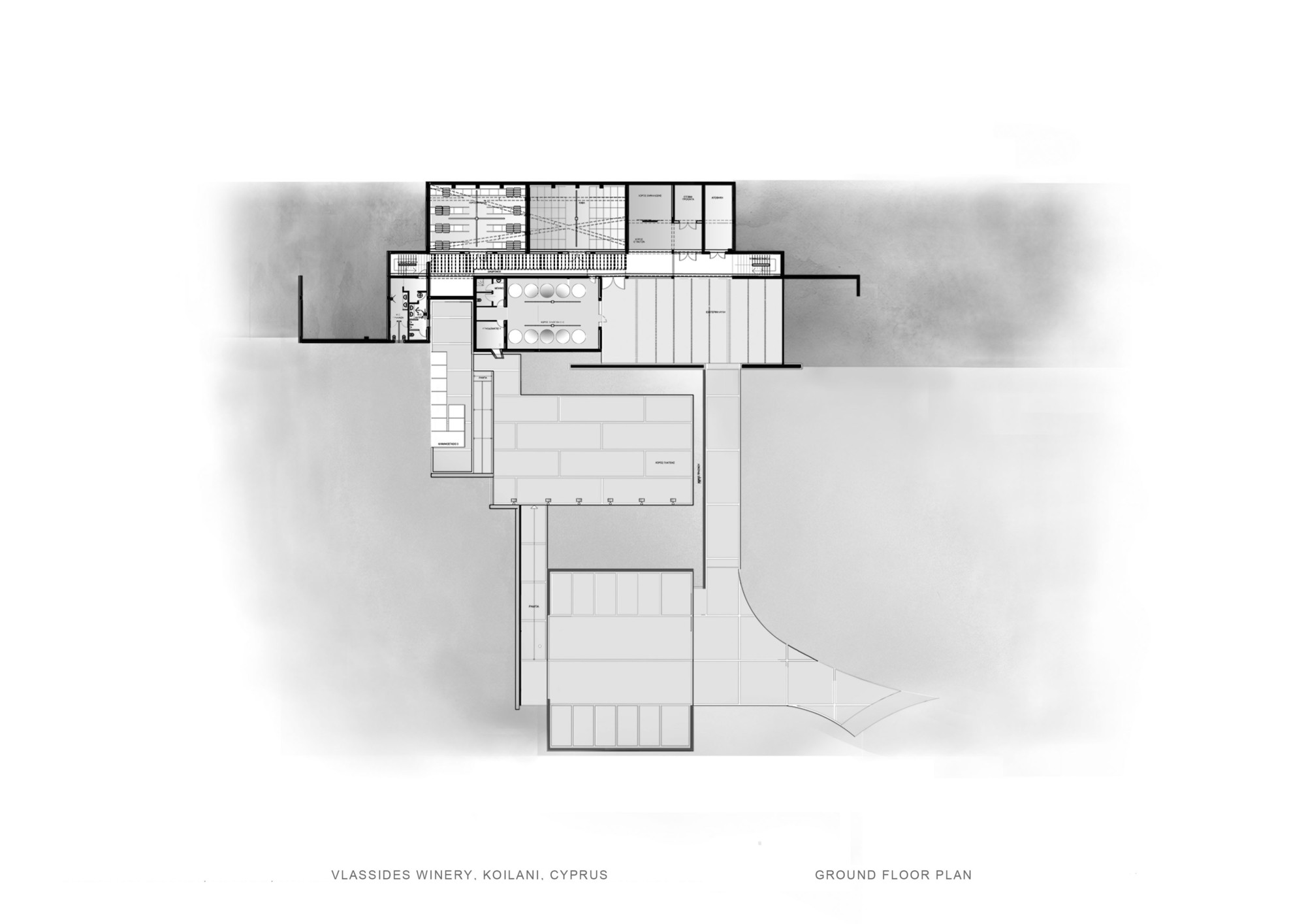 Gallery of vlassides winery eraclis papachristou for Winery floor plans by architects