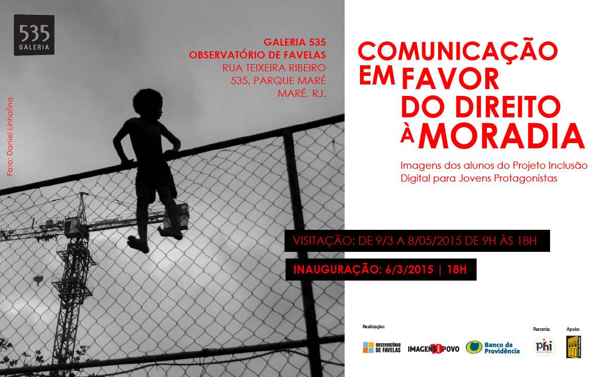 Exposição reúne fotografias de jovens sobre direito à moradia na Maré