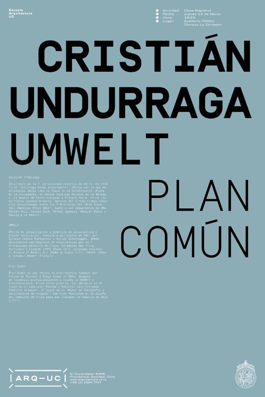 Conferencia: Undurraga + UMWELT + Plan Común / Santiago