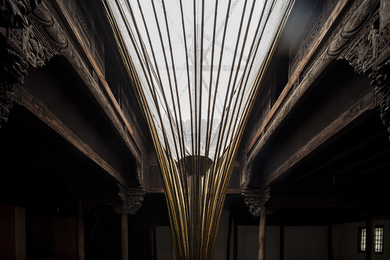 Custom Bamboo Skylight Illuminates The Interior Of A Historic Building In  China, Cortesía De Atelier