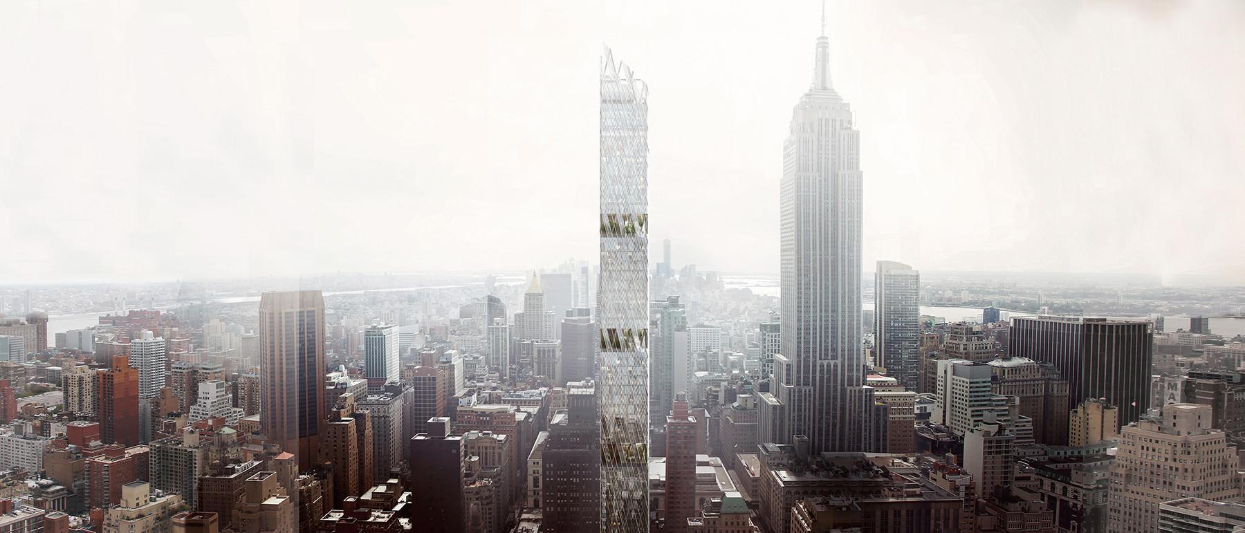 """Perkins+Will's """"Sleek"""" Manhattan Tower to Feature Five Open-Air Gardens, © Perkins+Will / MIR"""