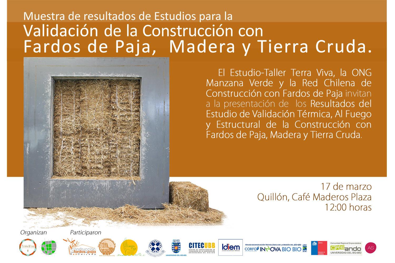 Presentación: construcción con fardos de paja y tierra cruda / Chile