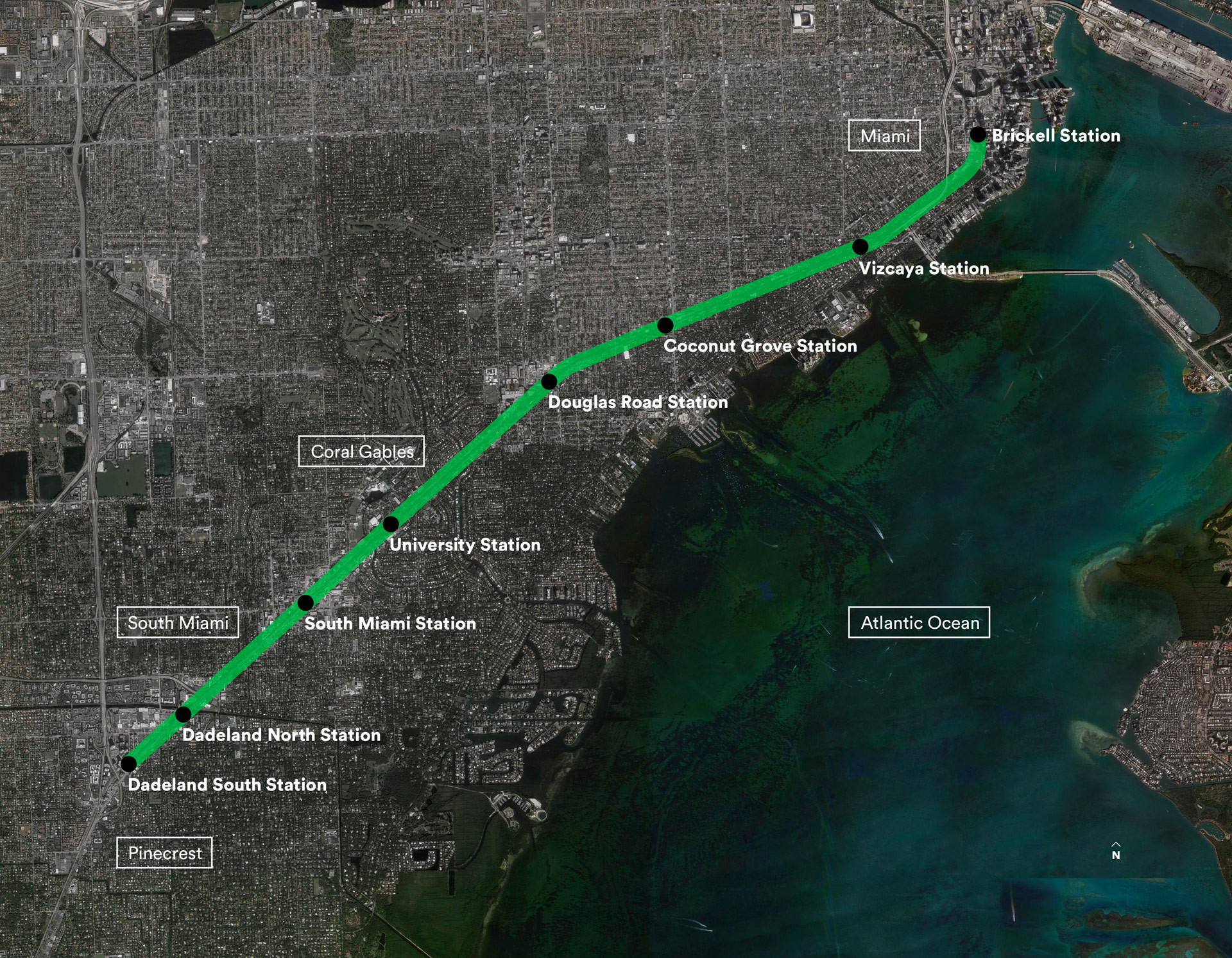 "James Corner Field Operations Chosen to Design Miami ""Underline"" , The site. Image via TheUnderline.org"