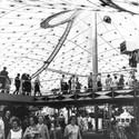 Inside the German Pavilion during Expo '67. Image © Frei Otto