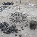 Construção de desenho em moldes, em Faro. © Roc2c